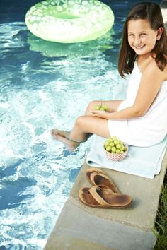 Crisp, cool and refreshing… Grapes from California make the perfect poolside snack!