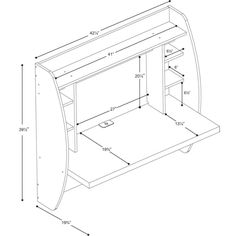 Prepac Floating Wall-Mounted Desk (WEHW-0200-1) - White : Desks - Future Shop