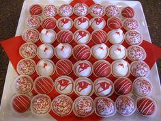 cute idea for #graduation cake balls