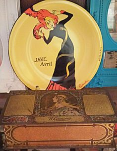 Mucha Whitman tin and old plate