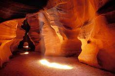 Slot Canyon Warm Light Photograph