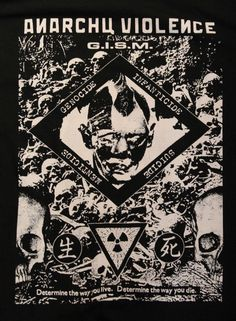 G.I.S.M.(Gism) Anarchy Violence Short Sleeve Tee Shirt