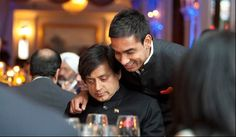 Author and Indian Member of Parliament Dr. Shashi Tharoor with his son.  Photo: www.michaeltoolan.com.