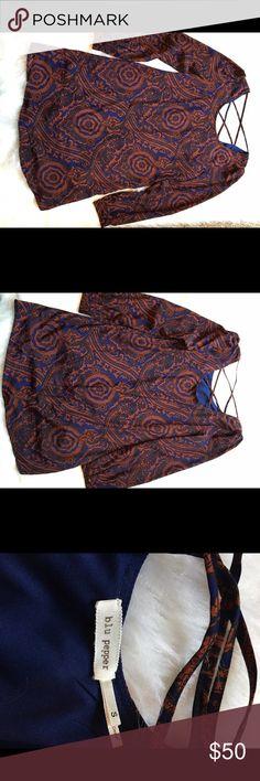 "Anthropologie blu Pepper  Paisley Print Dress Super cute dress!   Pit to pit 18"". Waist 19"". Length 32"". No trades Anthropologie Dresses"