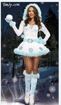 Women's Sexy White  Santa Claus Christmas Outfit Cosplay Fancy Dress Costume #Unbranded #Dress