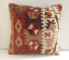 Ethnic Kilim Throw Pillow