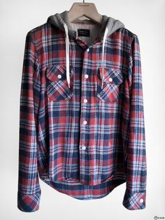 Number (N)ine - FW05 The High Street Hooded Flannel Shirt — E-G