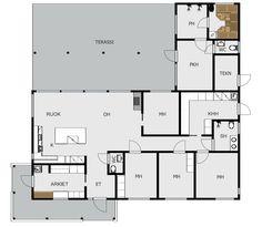 Koti rakennetaan tunteella: suunnitelmat 161m2