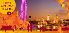 ENJOY AUTUMN IN LONDON  And book yourself a Think Autumn Special...    Studio Apartments From £99  American Double Apartments From £159  2 Bedroom Apartments From £179  Join Think Apartments for an Autumn Special in London, and experience all that this great capital has to offer. From the shopping areas of Knightsbridge, and London's Iconic sights, to some of the best live entertainment in the world.