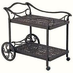 Wrought Iron Tea Pastery Cart With Wheels     Yahoo Image Search Results