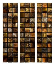 Prime Décor Collection Galactic Textured Triptych Oil Paintings - Set of 3 40 inch h x 10 inch w x 1.75 inch