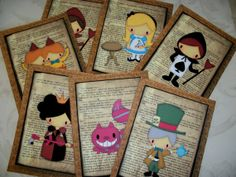 Alice and her friends  Fairytale Book pages  by PaintedByRenee, $12.00