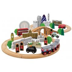 Order your Tidlo City of London Wooden Train Set securely online at The Toy Centre UK.