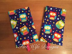 Owl Drool/Suck Pads for Soft Structure Carriers by FireWifeDesigns