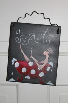 Does not the sign invite you to relax? A nice bath . in a dim light . a cold champagne . The Schil . Diy Crafts To Do, Wood Crafts, Wooden Cutouts, Happy Paintings, Dim Lighting, Old Building, Diy Invitations, Wooden Doors, House Painting