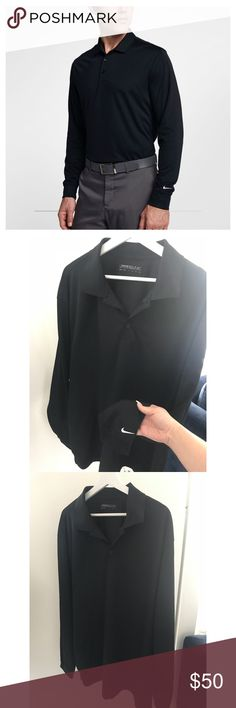 NIKE GOLF MENS POLO LONG SLEEVE BLACK NWOT Perfect condition. Never used. Nike Shirts Polos