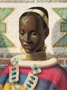 Woman of Ndebele -Vladimir Tretchikoff Painting.  See his site operated under the Tretchikoff Foundation: http://www.vladimirtretchikoff.com/