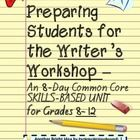 "Welcome to  PerfettoWritingRoom's ""The Writer's Workshop for High School. An 8-Day Common Core Unit""   This packet is a perfect introduction for th..."