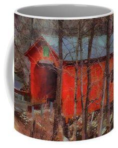 Slaughterhouse Covered Bridge Coffee Mug by Jeff Folger.