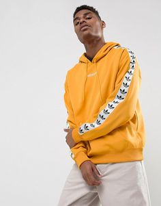 ADIDAS TNT TAPE YELLOW PULLOVER HOODIE AT PACSUN.COM on The Hunt
