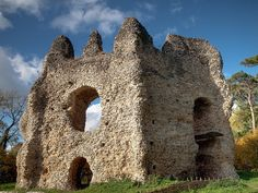 The ruins of 13th century King John's Castle near Odiham, Hampshire    The 'Castle' was actually a fortified octagonal hunting lodge,  surrounded by moats. King John rode from here to sign Magna Carta at  Runnymede.  Photo published in the January 2011 edition of Hampshire  the