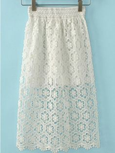 Virginal Floral Lace Skirt