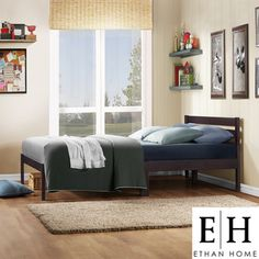 @Overstock - ETHAN HOME Haylyn Twin-size Espresso Platform Bed - Simplicity meet beauty is blend in to this haylyn collection, bringing in the traditional ladder style into the headboard design. With the sturdiness of this bed, it will sure be a perfect piece of furniture for your bedroom decor.    http://www.overstock.com/Home-Garden/ETHAN-HOME-Haylyn-Twin-size-Espresso-Platform-Bed/7304865/product.html?CID=214117  $112.49