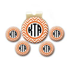 Magnetic Golf Ball Markers - Personalized Monogram - Set of 5 Markers Plus Hat Clip - Choice of Colors on Etsy, $18.00