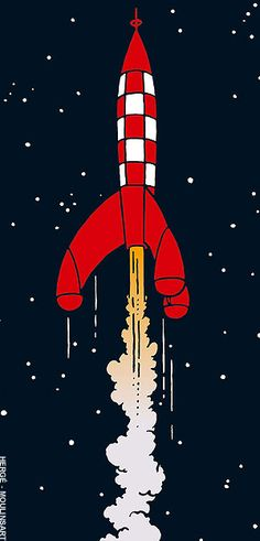 Tintin's rocket. So iconic it immediately makes me feel 8 again.