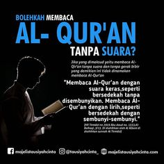 Membaca Al - Qur'an Islamic Love Quotes, Islamic Inspirational Quotes, Muslim Quotes, Reminder Quotes, Self Reminder, Hijrah Islam, Doa Islam, Sabar Quotes, Best Quotes