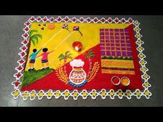Rangoli Designs Latest, Rangoli Designs Flower, Rangoli Border Designs, Rangoli Ideas, Rangoli Designs Diwali, Diwali Rangoli, Rangoli Designs With Dots, Rangoli Designs Images, Flower Rangoli