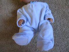 "Doll Clothes 13"" Baby Alive PJ Footed Pajama Sleeper Soft Blue 12 13"" Dolls | eBay"