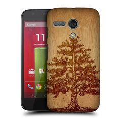 Head Case Designs Tree Wood Art Protective Snap-on Hard Back Case Cover for Motorola Moto G