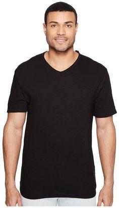 Calvin Klein Jeans Mixed Media V-Neck Tee Men's T Shirt
