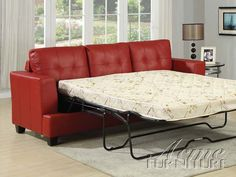 Platinum Diamond Red Bonded Leather Sofa W/Queen Sleeper By Acme furniture Acme Furniture, Furniture Deals, Living Room Furniture, Living Room Decor, Furniture Design, Furniture Outlet, Sofa Furniture, Online Furniture, Pull Out Sleeper Sofa