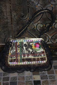 Steampunk Vintage Look Handbag Purse by jewelryonmymind on Etsy, $12.95