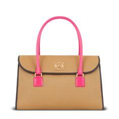 LOEWE alamo bag gold/magenta
