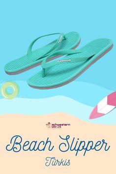 Beach Slipper Türkis 💦☀ Nur CHF 19.90!  Ideale Badesandalen mit Schrägriemenbefestigung. Tolle Sommerbegleiter 💖 Flipflops für die Badi oder für warme Sommerabende.  Jetzt bei schwesternuhr.ch bestellen. Ohne Versandkosten. Schweizer Unternehmen.  #schwesternuhrch #schwesternuhr #schwesternschuhe #sommerschuhe #beachslipper #flipflop Flipflops, Slipper, Sandals, Beach, Shoes, Fashion, Beautiful Sandals, Comfortable Sandals, Comfortable Shoes