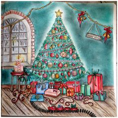 my christmas living room right page johannas christmas johanna basford christmas living rooms