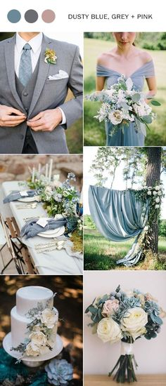 dusty blue and pink wedding color ideas 2018 #weddings #weddingcolors #weddingtrends #weddingcolors2018