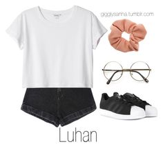 """""""Zoo // Luhan"""" by suga-infires ❤ liked on Polyvore featuring Monki, adidas and Dorothy Perkins"""