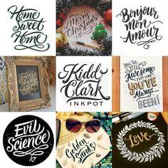 """""""A quick snipet of #kiddclark_inkpot #2015 ✒✏✒✏✒✏✒✏✒✏✒✏✒✏✒✏ #lettering #handlettering #handtype #customtype #typematters #typography #typetopia #goodtype…"""""""