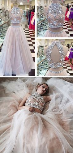 Fashion High Neck Prom Dresses,Two Piece Prom Gowns,A line Tulle Prom Dress with Beading, Shop plus-sized prom dresses for curvy figures and plus-size party dresses. Ball gowns for prom in plus sizes and short plus-sized prom dresses for Modest Prom Gowns, Sparkly Prom Dresses, Prom Dresses Two Piece, Beaded Prom Dress, Prom Dresses 2017, Long Prom Gowns, A Line Prom Dresses, Ball Dresses, Evening Dresses