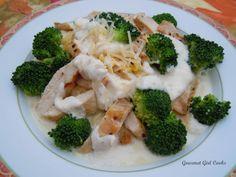 "Gourmet Girl Cooks: Chicken & Broccoli ""Fettucine"" Alfredo"