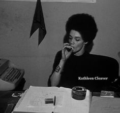 Kathleen Neal Cleaver was the first women to be a member of The Black Panther Party's decision-making body.  In 1981, she received a full scholarship from Yale University and graduated two years later summa cum laude with a Bachelor of Arts degree in history. Later, she graduated from Yale Law School. She is currently serving as faculty at Emory University School of Law.