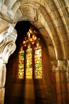 Stained glass-  It is so beautiful.