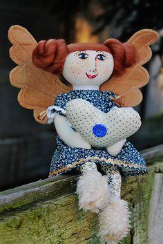Slečna Mara Anjelská /nesie lásku k Vám / maramanufaktura - SAShE. Teddy Bear, Angel, Toys, Animals, Products, Animales, Animaux, Angels, Animais