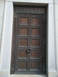 Mausoleum door carved metal San Antonio & Mausoleum doors - Art Nouveau grillwork Mission Park Cemetery San ... Pezcame.Com