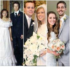 Jim Bob and Michelle - July 21,1984 Josh and Anna - September 26,2008 Derick and Jill -June 21,2014