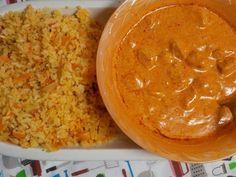 Spicy rice and Yogurt Chicken